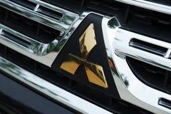 логос mitsubishi стоковое фото rf