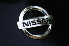 логос nissan Стоковая Фотография RF