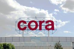 логос s hypermarket cora Стоковые Изображения RF