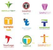 логос t письма Стоковая Фотография