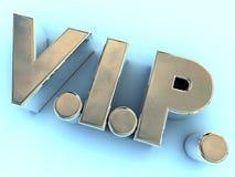 логос vip отполированный металлом иллюстрация вектора