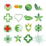 Логотипы вектора медицины и фармации иллюстрация вектора
