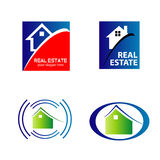 Логотипы значков недвижимости и конструкции Стоковые Изображения