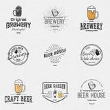 Логотипы и ярлыки значков пива для любых используют Стоковая Фотография RF