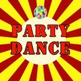 Логотипы и ярлыки значков танцев неоновые для любой пользы, например для клеймя партий Стоковая Фотография RF