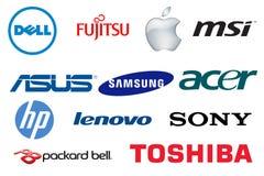 Логотипы компьтер-книжек бренда Стоковые Фотографии RF
