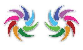 Логотипы круга сферы, глобальная деловая компания элементов и абстрактная корпорация округлили вектор символа значка Стоковые Фотографии RF