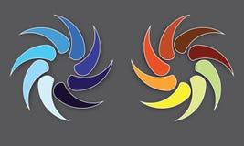 Логотипы круга сферы, глобальная деловая компания элементов и абстрактная корпорация округлили вектор символа значка Стоковая Фотография RF