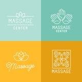 Логотипы массажа иллюстрация вектора