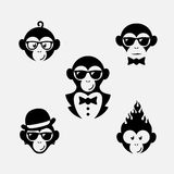 Логотипы обезьяны Стоковое Изображение