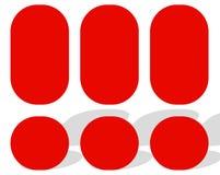 Логотипы, логотипы для различных польз Плоский шаблон логотипа формы бесплатная иллюстрация