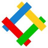 Логотипы, логотипы для различных польз Плоский шаблон логотипа формы иллюстрация вектора