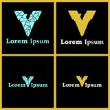 Логотипы письма v с умный спрятанный 7 Стоковые Фото