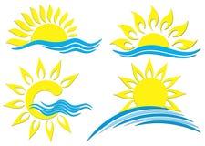 Логотипы Солнця Стоковые Изображения