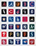 Логотипы insignia крышки высшей лиги бейсбола Иллюстрация штока