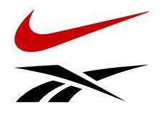 Логотипы Reebok и Найк Стоковые Фото
