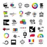 Логотипы tv, видео, фото, фильм Стоковое Изображение RF