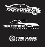 Логотип автомобилей гаража стоковые изображения rf