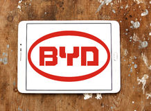 Логотип автомобиля Byd Стоковое фото RF