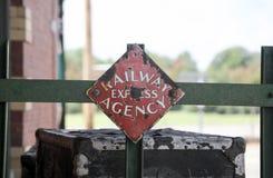 Логотип агенства железной дороги срочный Стоковые Изображения