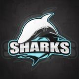 Логотип акулы для команды спорта стоковое изображение rf