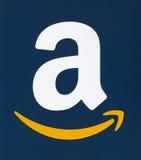 Логотип Амазонки напечатанный на бумаге Стоковое Изображение