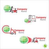 Логотип аэродромного автопогрузчика инженерства Стоковые Фото