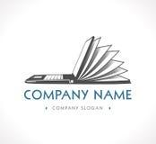 Логотип - база знаний, обучение по Интернетуу Стоковая Фотография RF