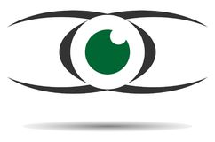 Логотип баланса глаза иллюстрация вектора