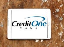 Логотип банка кредита одного Стоковые Изображения RF
