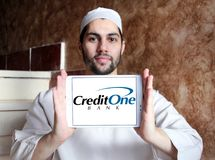 Логотип банка кредита одного Стоковое Фото