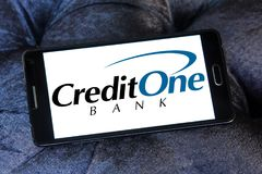 Логотип банка кредита одного Стоковые Изображения