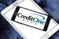 Логотип банка кредита одного Стоковая Фотография RF