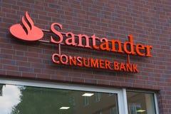 Логотип банка потребителя Сантандера Стоковое Изображение