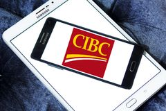 Логотип банка CIBC Стоковое Фото