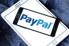 Логотип банка Paypal электронный Стоковое Изображение