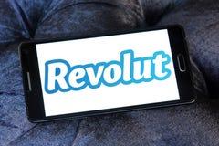 Логотип банка Revolut цифровой стоковое фото rf