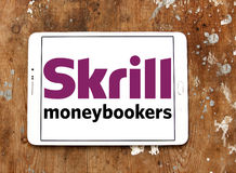 Логотип банка Skrill электронный Стоковая Фотография
