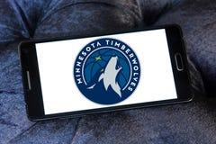 Логотип баскетбольной команды Минесоты Timberwolves американский стоковые фотографии rf