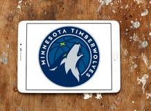 Логотип баскетбольной команды Минесоты Timberwolves американский стоковые фото
