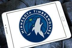 Логотип баскетбольной команды Минесоты Timberwolves американский стоковое изображение rf