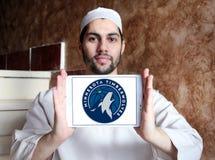 Логотип баскетбольной команды Минесоты Timberwolves американский стоковая фотография