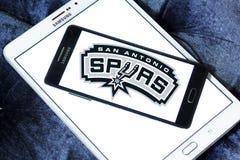Логотип баскетбольной команды Сан-Антонио Сперс американский Стоковые Фото