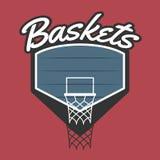Логотип баскетбольной команды Стоковое Изображение RF