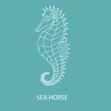 Логотип - белое seahorseÂŒ стоковое фото
