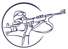 Логотип биатлона вектора Стоковая Фотография