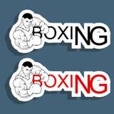 Логотип бокса Стоковое Фото