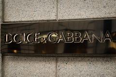 Логотип бутика Dolce & Gabbana Стоковая Фотография