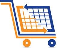 Логотип вагонетки покупок Стоковое Изображение
