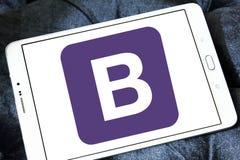 Логотип вебсайта бутстрэпа стоковые фото